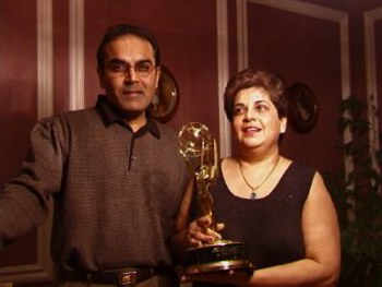 Mom and Dad with my Emmy