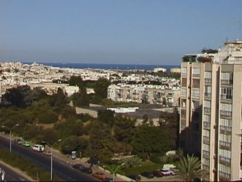 View from my Tel Aviv Apartment on Yom Kippur 2000, Hanson R. Hosein