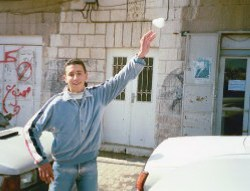 Snowball intifada in East Jerusalem, January 2000