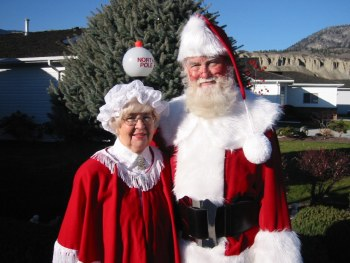 Santa Figley and wife, Penticton BC, HRH December 20, 2001