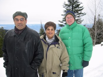 Mom, Dad, father-in-law Stan at Myrna Valley, BC Dec 25, 2001