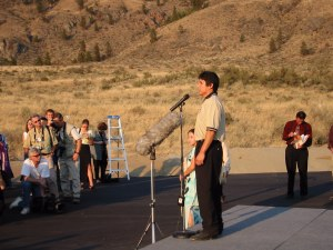 Clarence Louie at winery opening, September 13, 2002 HRH