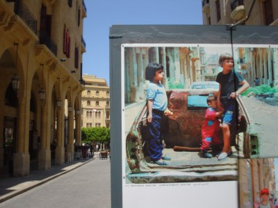 Rebuilt Beirut and memories of the war, April 30, 2003 HRH