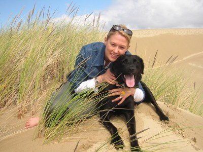 Heather and Miles in the Oregon Dunes